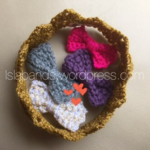 Newborn crown and bow clips